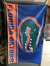 Florida State University Gator wordmark Flag 150X90CM NCAA 3X5FT Banner 100D Polyester grommets custom009, free shipping(China)