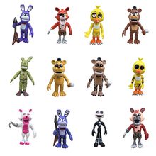 Five Nights At Freddy's Action Figure Toys Foxy Gold Freddy Chica Freddy Model Dolls Kawaii Present Midnight The Bear