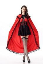 New Little Red Riding Hood Costume Adult Women Halloween Fancy Outfit Cosplay Little Red Riding Hood Costume(China)