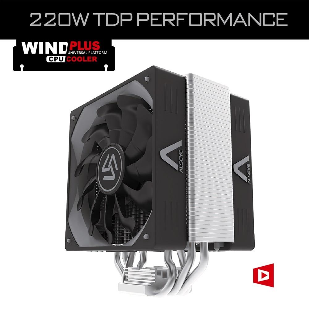 ALSEYE Wind Plus Dual 120mm Pwm Fan CPU Cooler For Computer TDP 220W 4 Heat Pipe 4pin 500-1500rpm Radiator 12v CPU Air Cooling <br><br>Aliexpress