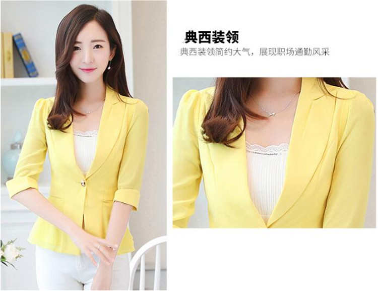 Suits & Sets Elegant Female Summer Thin Suits Plus Size 3xl 4xl 4xl Women Office Blazer Blue Orange Slim Fit Breathable Blazer For Work Ma088 Latest Fashion