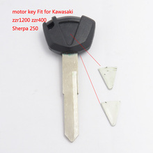 Motorcycle Key Shell Fob Cover For Kawasaki ZZR1200 ZZR Tibetans Transponder Key Can Put Chip Inside In Black Color 10pcs/lots