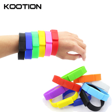 10pcs/lot Silicone Wristband Clef USB 2.0 Flash Drive Pen Drive 64GB 32GB 16GB 8GB 4GB Memory Stick Storage Device Wholesale