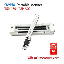 Skypix handheld scanner  portable TSN470+A02 HD 1200dpi high speed with automatic paper feeding scanning Combo docking send 8G