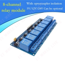 1pcs With optocoupler 8 channel 8-channel relay module relay control panel PLC relay 5V/12V/24V  module optional for arduino