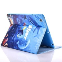New Cute Cartoon Sea World Case For iPad With Soft TPU Shell Case For Apple iPAD Mini 4 Case PU Leather Tablet Pc Cover Case