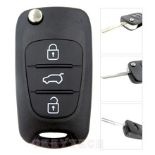 3 Buttons Flip Folding Remote car Key Shell For Hyundai I30 IX35 Kia K2 K5 Remote Alarm Cover Switchblade Key Case HYUNDAI logo