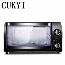 CUKYI 220v / 10L Mini electric oven home Multifunctional baking oven trifle and bread 900W(China)