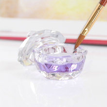 Hot New Crystal Glass Dappen Dish/Lid Bowl Cup Crystal Glass Dish Nail Art Tools Acrylic Nail Art Equipment Mini Bowl Cups