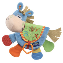donkey animal cloth book teether multifunction cognitive puzzle / sound paper / BB device baby toys