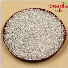 40g/lot 3mm DIY Czech Glass Seed Beads with Silver Lining Brown Purple Loose Spacer Beads for Jewelry Making