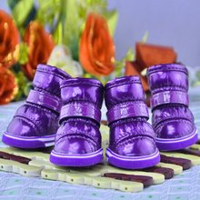 Lovely Pet Autumn and Winter Snow Dog Boots Casual Dog Shoes Pet Slip-resistant Waterproof Shoes For Dog 4 Pcs/Sets