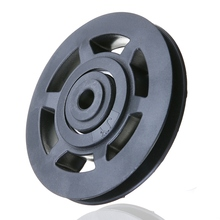 Durable ABS Material Universal 95mm Black Wearproof Bearing Pulley Wheel Cable Gym Sports Equipment Part