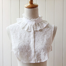 Fashion White Lace False Detachable Shirt Collars Blouse Decoration Lined Fake Stand Collar One Size for Women(China)