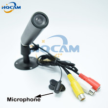 "HQCAM Audio 1/3"" Sony CCD 480TVL Color Mini Bullet Camera Outdoor Waterproof CCTV Security Camera audio Support microphone"
