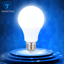TRANSCTEGO white Led Bulb Energy Saving Bulbs Light Lamp Thermal Plastic Aluminum Cooling Spotlight E27 screw bulbs 5730(China)