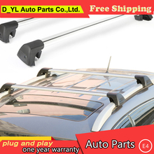 D_YL car styling for Hyundai ix35 panoramic sunroof Edition wing aluminum roof rails roof rack rod mute
