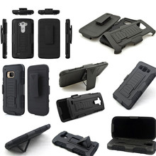 2017 New Black Hybrid Car Armor Impact Hard Rugged Holster Box Case Belt Clip Stand Cover FOR iPhone 4 5 6 6S 7(China)