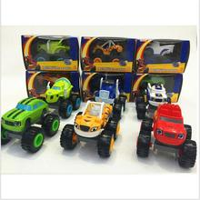 6PCS/SET Blaze Monster Machines Russia blaze miracle cars toy for kids Car Transformation Toys With Original Box Kids Best Gifts