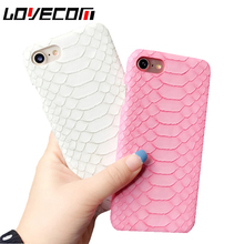 LOVECOM Crocodile Pattern Phone Case For iPhone 5 5S SE 6 6S 7 7 Plus Hard Plastic Phone back cover coque(China)