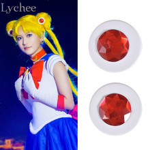 Lychee 1 pair Sailor Moon Cosplay Accessory Tsukino Usagi PVC Hair Clip Cartoon Headdress Accessories Jewelry