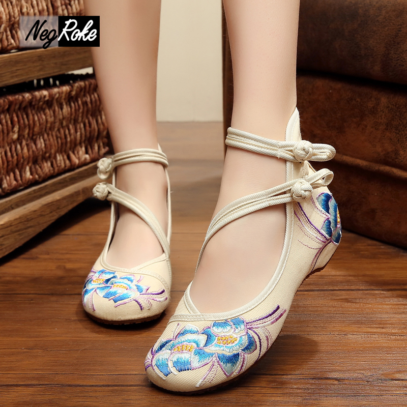 denim blue sexy shoes women flower embroidery canvas women flats women shoes dance walking casual shoes for ladies zapatos mujer<br><br>Aliexpress