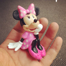Original Minnie Mouse Figure Doll PVC Minnie Model Toy for Cake Decoration, Collection 8CM