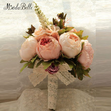 2016 New Bridal Bouquet Wedding Artificial Flowers Bouquet For Bridesmaids Pink Cheap Gros Bouquets De Mariage(China)