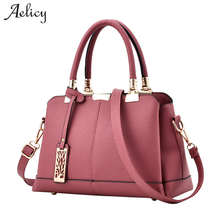 Aelicy Bag Women Pu Leather Tote Brand Name Bag Ladies Handbag Lady Evening Bags Solid Female Messenger Shoulder Bag sac a main(China)