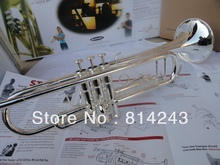 The Original Brand Suzuki Bb Trumpet Small Surface Silver Plated 965 Brass Professional Bb Trumpet Musical Instruments