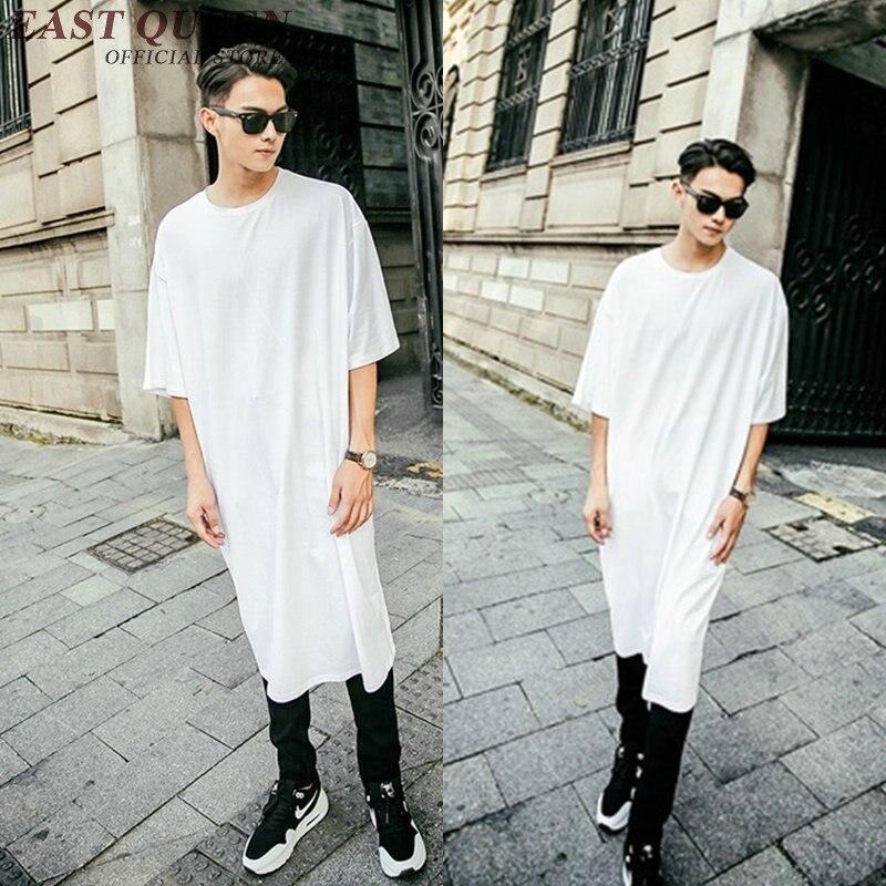 Extra long tee shirts for men 2017 new extra long t shirt hip hop clothing KK1066 Y
