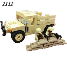 AIBOULLY 2017 New 170pcs Modern War Military Carrier Transport Humvee Cargo Troop Armament SWAT Figure Building Blocks Toys(China)