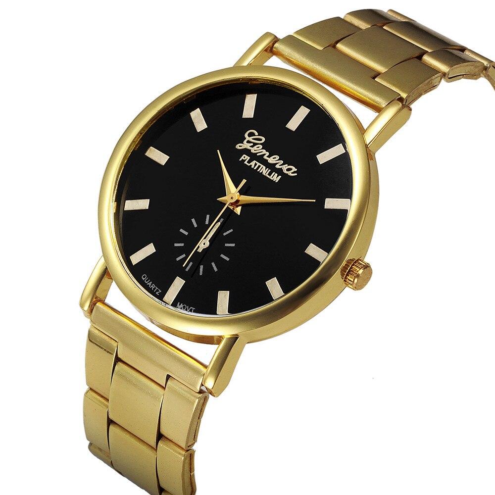 Fashion Gold Watch Men Women Crystal Stainless Steel Analog Quartz Wrist Watch vintage watch 2016 News montre femme Feida<br><br>Aliexpress