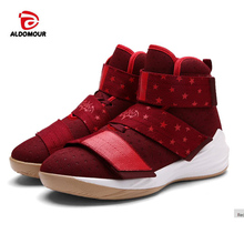 ALDOMOUR 2017 TOP New Kids Men Basketball Shoes Breathable Outdoor Athletic Shoes Zapatos Hombre Autumn Ankle Boots Kids Boots