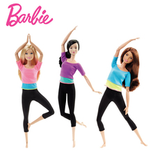 Original Barbie Doll Movement Style Joints Movable Yoga Fashion Barbie Girl Toy Accessories Birthday New Year 2018 Gift DHL81(China)