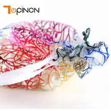 50pcs Organza Jewelry Gift Bags Small Drawstring Pouches Gift Candy Bags Wedding Party Favor Pouch Gift Bags Wholesale(China)