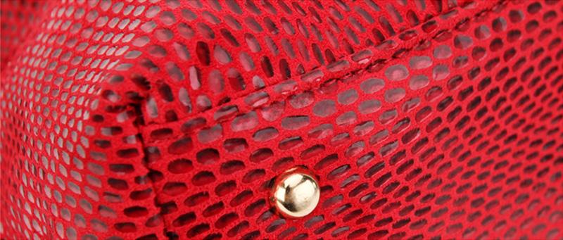 Women Snake Leather Shoulder Bag Female Serpentine Pattern Hobos Bags Tassel Big Handbag Luxury Designer Ladies Tote SS0309 (1)
