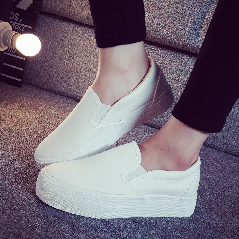 Canvas shoes female 2015 stripe platform semi-drag casual pedal shoes lazy womens shoes<br><br>Aliexpress