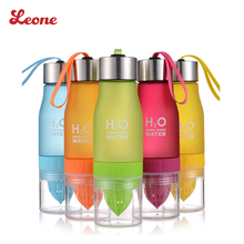 650ml Colorful Lemon Health Portable Sports fruit juice Water bottle Infusing Infuser Shaker H2O Detox  plastic drinkware tour