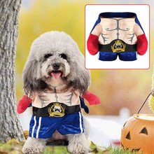 Buy Dog Clothes Funny Boxer Pet Dog Costume Halloween Suit Small Dogs Clothes Puppy Outfit Pet Chihuahua Clothing Costume for $7.66 in AliExpress store
