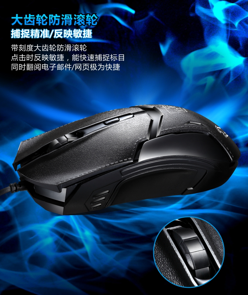 ZGB 179 Office Mouse Professional 1.2 M Wired Gaming 1600DPI 3Buttons for Home Laptop PC Mice Computer Accessories