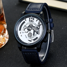 Cool Fashion Geometry Gear Design Watch Men Steampunk Unique Style Womens Mens Quartz Wristwatches Young Man Watch Christmas Gif(China)