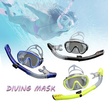 masks for scuba diving glasses snorkel mask face Underwater Silicone Swimming mask swim eyewear Equipment antifog mask and tube(China)