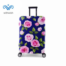 Size S/M/L/XL Suitcase Protective Cover Apply to 18~32 Inch Luggages 4 Floral Patterns Dust-proof Travel Trolley Covers Optional
