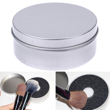 1pc Metal Makeup Brush Cleaner Box Sponge Remover Color Brush Washing Cleaning Scrubber Case Clean Eyeshadow Brushes Tool