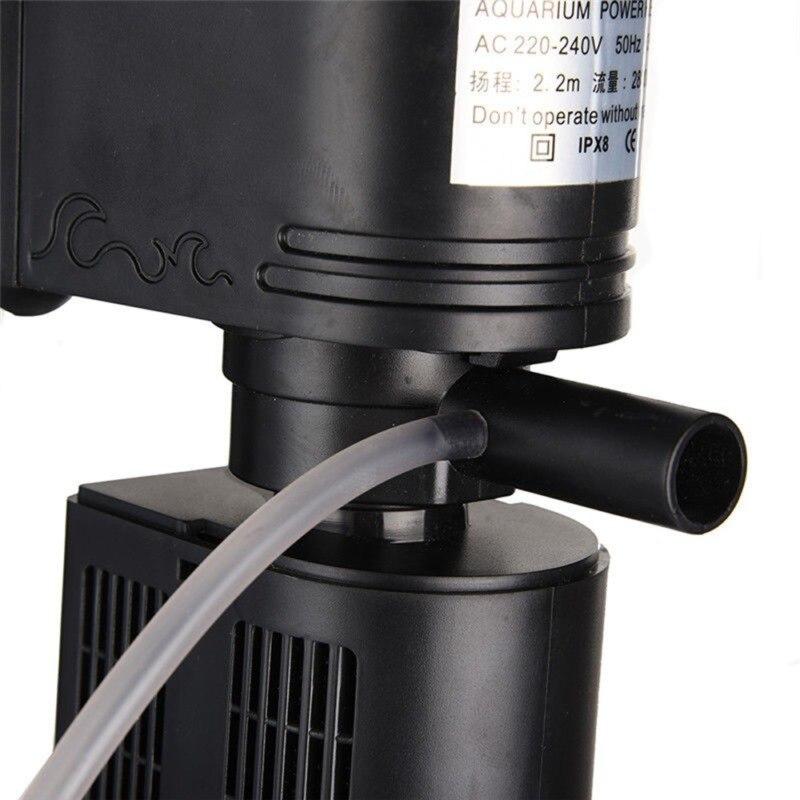 3 in 1 Aquarium Filter Submersible Oxygen Pump Purifier Tool Multi-function Fish Tank Filter Purifier Water5