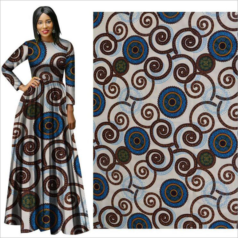 Dress Hollandais Wax Wax-Fabric Print African New Cloth Suit Folk-Custom DIY Me-Dusa title=