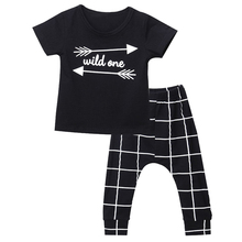 2pcs Newborn Infant Baby Boy Girl Clothes T-shirt Tops+Long Pants Outfits Sets, 70(Advice 0-6 Months)(China)