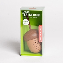 250pcs Silicon Sweet Tea Infuser Candy Acorn  Loose Leaf Mug Strainer Cup Steeper