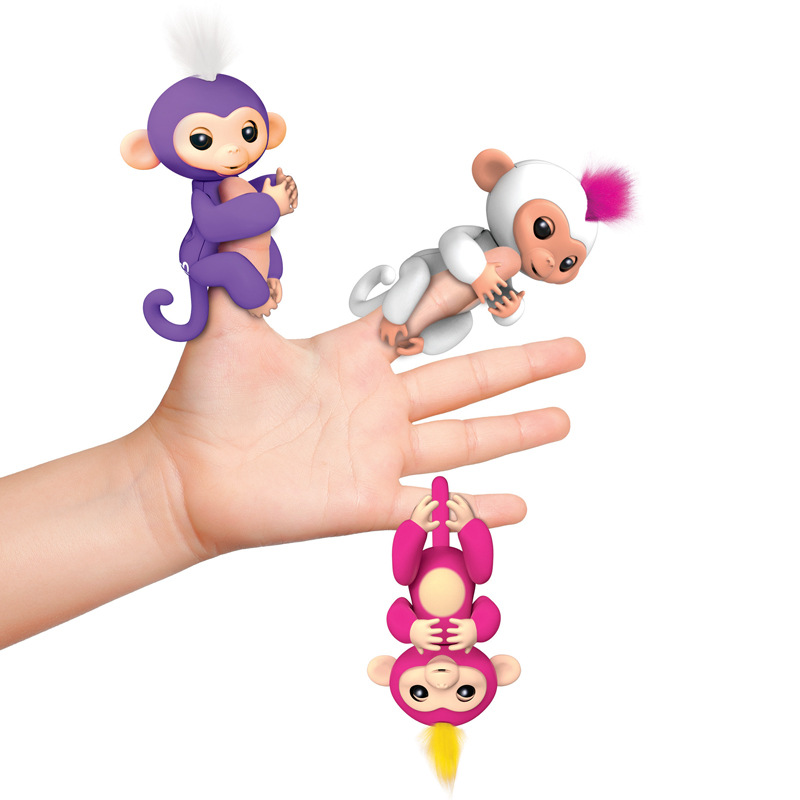 2017 New Fingerlings Interactive Baby Monkeys Toy Smart Colorful Fingers Llings Smart Induction Toys Christmas Gift Toy For Kids 6